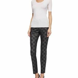 NYDJ Black/Gray Super Skinny Diamond Print Jeans